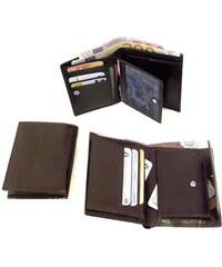 hnědá pánská kožená peněženka a dokladovka