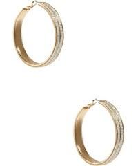 G by Guess Náušnice Glitter Hoop Earrings