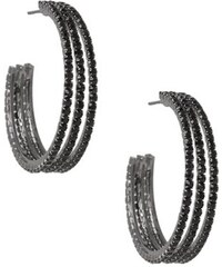 G by Guess Náušnice Rhinestone Triple Medium Hoop Earrings