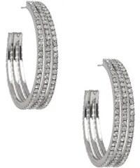 G by Guess Náušnice Rhinestone Triple Medium Hoop Earrings