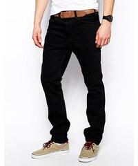 Levis Vintage Levi's Vintage Clothing - 1960 606 Orange Tab - Schwarz überfärbte, schmale Jeans - Schwarz