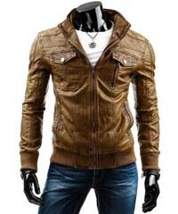 Pánská kožená bunda Brown - hnědá