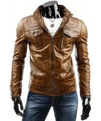 Pánská kožená bunda Luxure - hnědá