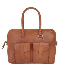SZUNA Leder Damen Handtasche »Sand & Curry«