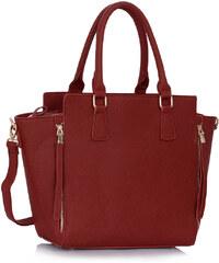 L&S Fashion (Anglie) Kabelka LS0314 červená (burgundy)