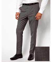 ASOS - Pantalon slim habillé style workwear - Gris moyen - Gris