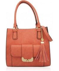 Korálově červená kabelka LYDC London Sia