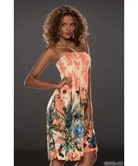 Miss Line Barevné letní šaty