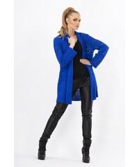 Pletený dámský kabátek Makadamia MS17 modrý
