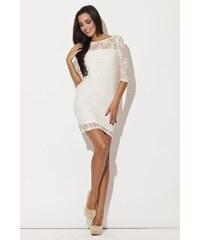 Dámské šaty Katrus K109 bílé