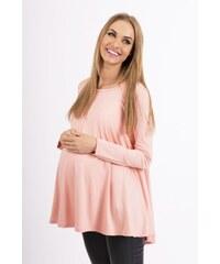 Dámská těhotenská tunika Makadamia 8538 růžová