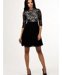 Společenské šaty Depare černé se vzorem