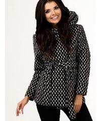 Zimní kabátek Depare 510193 černobílý