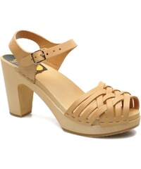 Swedish Hasbeens - Braided sky high - Sandalen für Damen / beige