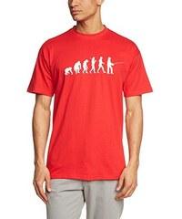 Shirtzshop Erwachsene T-Shirt Original Angler I Angeln Evolution