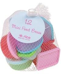 Rice Plastové dózičky s víčky - set 12 ks