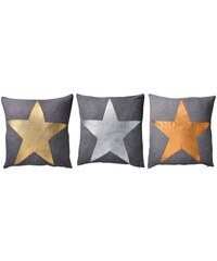 Bloomingville Bavlněný polštář Star Bronzová