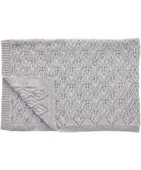 Hübsch Pletený vlněný pléd Grey 130x170 cm