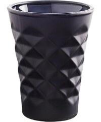 Tine K Home Svícen Facet porcelain Black blue 10 cm