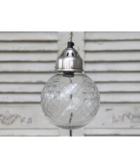 Chic Antique Stropní lampa Ball glass