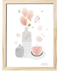 Bloomingville Obrázek Tea break 30x40 cm
