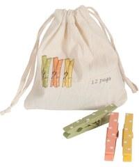 Maileg Dřevěné kolíčky v pytlíčku - 12 ks