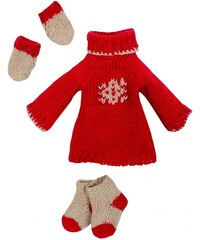 Maileg Zimní obleček red - maxi