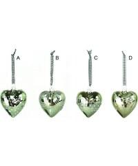 Green Gate Vánoční srdce - Hearts grey D - kytky
