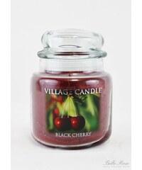 Village Candle Svíčka ve skle Black cherry - střední