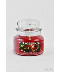 Village Candle Svíčka ve skle Happy holidays - malá