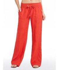 Guess Kalhoty Teagan Linen Pants
