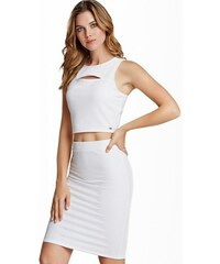Guess Top Gail Ponte Crop Top