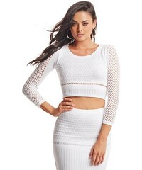 Guess by Marciano Top Jaiden Sweater Crop Top