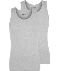 Pier One 2 PACK Unterhemd / Shirt light grey melange