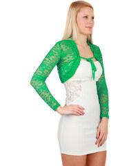 TopMode Elegantní krajkové bolerko zelená