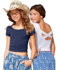 Arizona T-Shirt mit aufwendigem Rückenausschnitt (2 Stück), für Mädchen