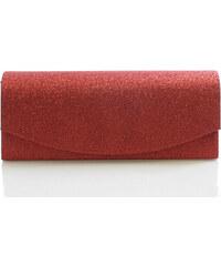Červené třpytivé psaníčko 4004 červená