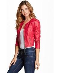 Guess Bunda Jorgina Cropped Faux-Leather Jacket