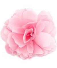 Květina do vlasů a na klopu růžová A25880
