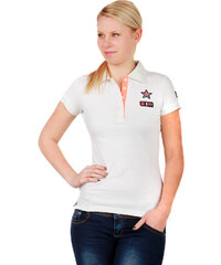 TopMode Krásné tričko s límečkem bílá