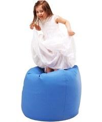 Ecopuf dětský sedací vak (pytel) Sako 3 modrá ekokůže