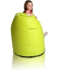 Ecopuf dětský sedací vak (pytel) Sako 15 limetka ekokůže
