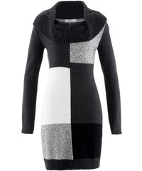 bpc bonprix collection Pletené šaty s dlouhým rukávem bonprix