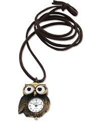 RAINBOW Řetízek sova s hodinkami bonprix