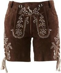 bpc bonprix collection Krojové kožené šortky s výšivkou bonprix