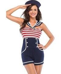 Námořní dámský kostým
