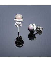 Buka Jewelry Buka Vpichovací náušnice s perlou Buka malé – šedá 206