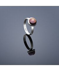 Buka Jewelry Buka prsten s perlou Buka malá perla – fialová 407