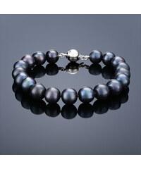 Buka Jewelry Buka Perlový náramek Mutiara 7,5 AA černý 618