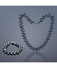 Buka Jewelry BUKA Perlová souprava Button – černá 864